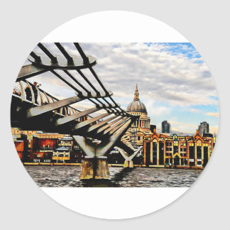 Millennium Bridge - London. Classic Round Sticker