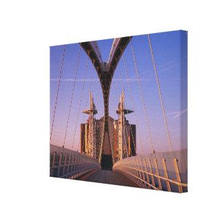 Millennium Bridge, Lowry Centre, Salford Canvas Print