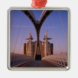 Millennium Bridge, Lowry Centre, Salford Christmas Ornament