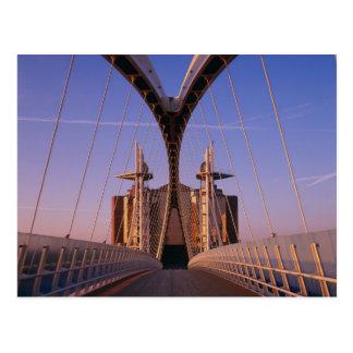Millennium Bridge, Lowry Centre, Salford Postcard