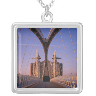 Millennium Bridge, Lowry Centre, Salford Silver Plated Necklace
