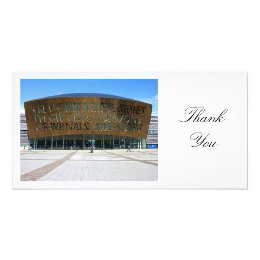 Millennium Centre, Cardiff, Wales - Thank You Custom Photo Card