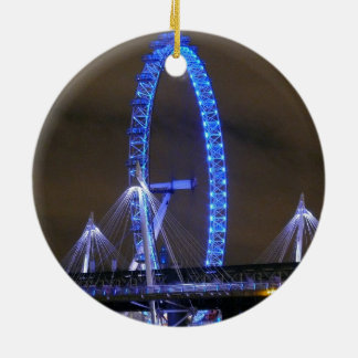 Millennium Wheel London Round Ceramic Decoration