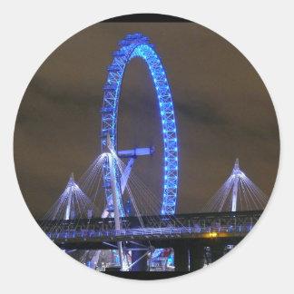 Millennium Wheel London Round Sticker