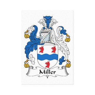 Miller Family Crest Gallery Wrap Canvas