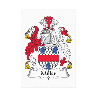 Miller Family Crest Stretched Canvas Prints