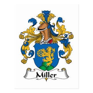 Miller Family Crest Postcard