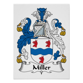 Miller Family Crest Posters