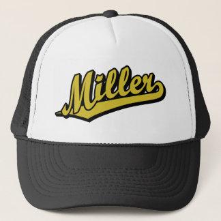Miller in Gold Trucker Hat