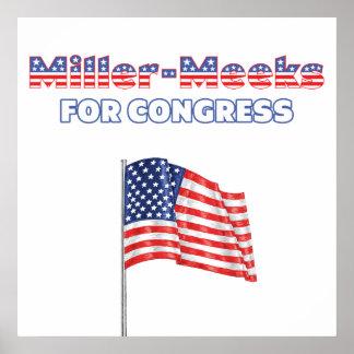 Miller-Meeks for Congress Patriotic American Flag Print