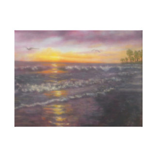 MILLER OCEAN WRAPPED CANVAS PRINT