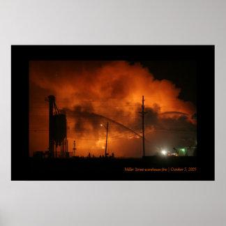 Miller Street warehouse fire Poster