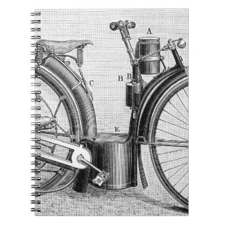 Millet Motorcycle, 1895 Spiral Note Books