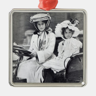 Millicent Duchess of Sutherland and her daughter Silver-Colored Square Decoration