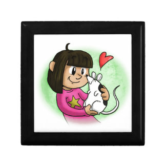 Millie and Cupcake Small Square Gift Box
