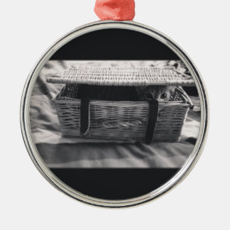 Millie Cat in basket Christmas Ornament
