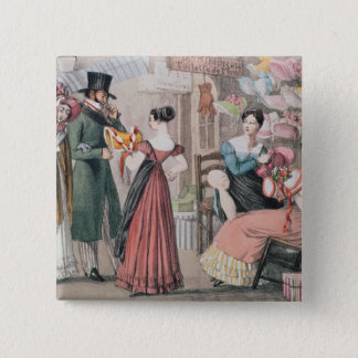 Milliners , printed by Charles Joseph 15 Cm Square Badge