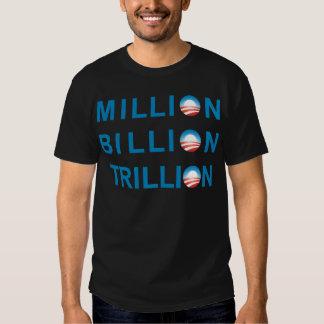 MILLION BILLION TRILLION T SHIRTS