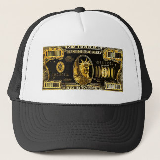 Million Dollar American money collection Trucker Hat