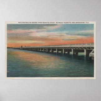 Million Dollar Bridge over Manatee River, Poster