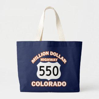 MILLION DOLLAR HIGHWAY COLORADO 550 LARGE TOTE BAG