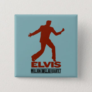 Million Dollar Quartet Elvis 15 Cm Square Badge