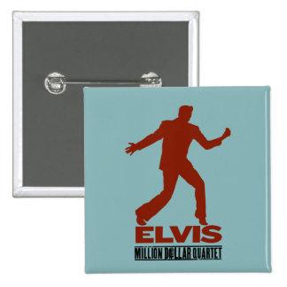 Million Dollar Quartet Elvis 15 Cm Square Badge