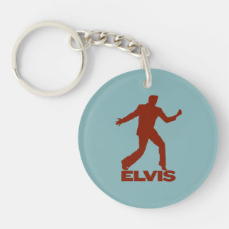 Million Dollar Quartet Elvis Double-Sided Round Acrylic Key Ring