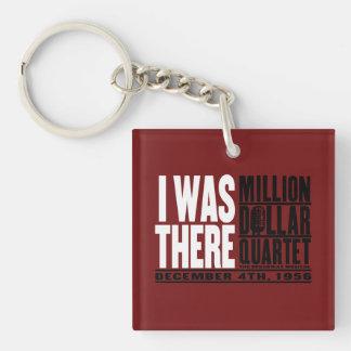 "Million Dollar Quartet ""I Was There"" Double-Sided Square Acrylic Key Ring"