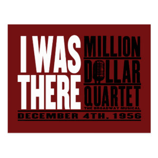 "Million Dollar Quartet ""I Was There"" Postcard"