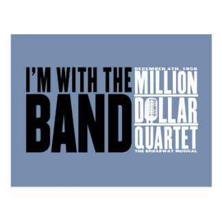 "Million Dollar Quartet ""I'm With the Band"" Postcard"