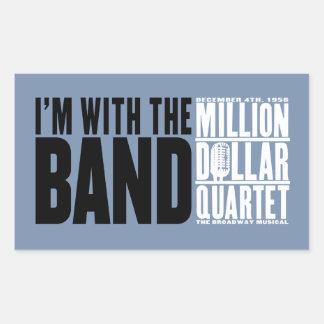 "Million Dollar Quartet ""I'm With the Band"" Rectangular Sticker"