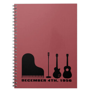 Million Dollar Quartet Instruments - Black Notebook
