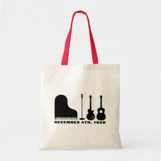 Million Dollar Quartet Instruments - Black Tote Bag