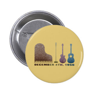 Million Dollar Quartet Instruments - Color 6 Cm Round Badge