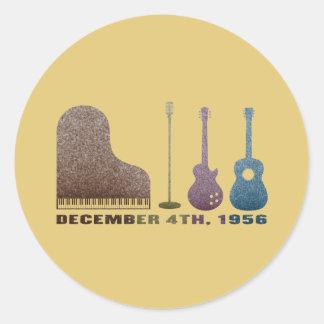 Million Dollar Quartet Instruments - Color Classic Round Sticker