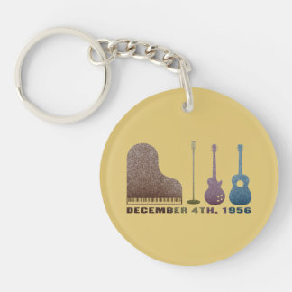 Million Dollar Quartet Instruments - Color Key Ring