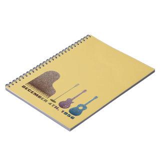 Million Dollar Quartet Instruments - Color Notebook