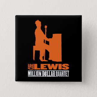 Million Dollar Quartet Lewis 15 Cm Square Badge