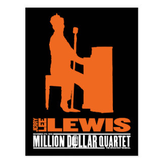 Million Dollar Quartet Lewis Postcard
