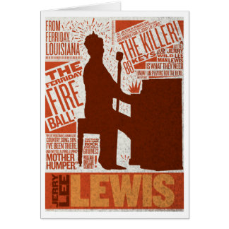 > Million Dollar Quartet Lewis Type Card