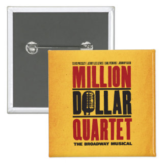 Million Dollar Quartet Logo 15 Cm Square Badge