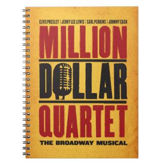 Million Dollar Quartet Logo Notebooks