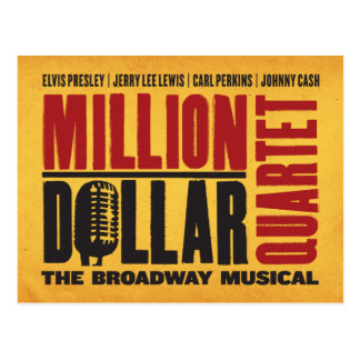 Million Dollar Quartet Logo Postcard