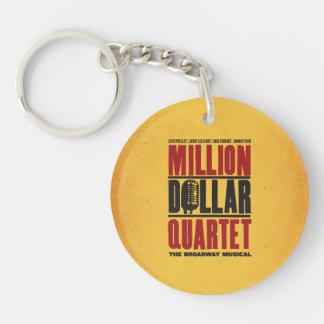 Million Dollar Quartet Logo Single-Sided Round Acrylic Key Ring