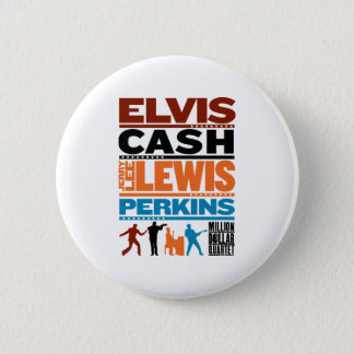 Million Dollar Quartet Names 6 Cm Round Badge