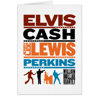 Million Dollar Quartet Names Card