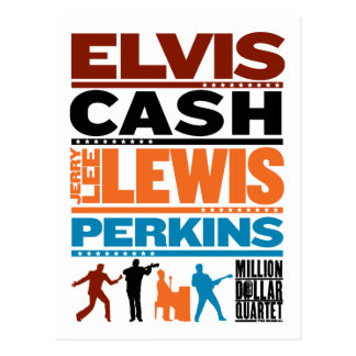 Million Dollar Quartet Names Postcard