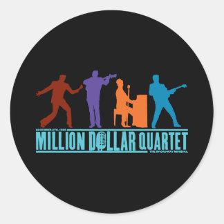 Million Dollar Quartet On Stage Classic Round Sticker