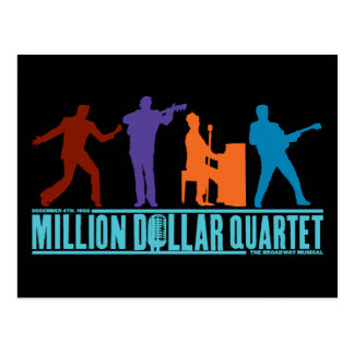 Million Dollar Quartet On Stage Postcard